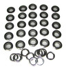 25pc. 1-inch Black Screened Grommets