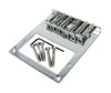 Telecaster(tm)-Style Top-Loading Chrome Electric Guitar Bridge Plate for Humbuckers