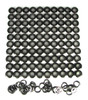 100pc. 1-inch Black Screened Grommets
