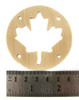 "2pc. 2.5"" Wooden Sound Hole Covers - Birch Maple Leaf"