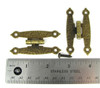 """2pc. Antique Brass Colonial-Style """"H"""" Hinges with Screws - 2 1/2"""""""