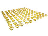 100pc. Bulk-pack 7/8-inch Brass Grommets/Candle Cups