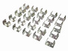 25pc. Metal 9-Volt Battery Clips