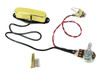 Gold Enclosed Single Coil Pickup Pre-wired with Volume Control & Jack