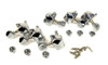 6pc. Chrome 3 Left/3 Right Enclosed-Gear Guitar Tuners