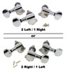 Chrome Sealed-Gear Tuners for 3-String Cigar Box Guitars