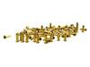 100pc. Long-shank Brass Eyelets/Economy String Ferrules