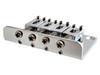 4-string Chrome Hard-tail Bridge for Cigar Box Guitars & More