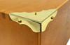 8pc. Brass-plated Box Corners (Straight Back)