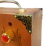 8pc. Antique Brass Box Corners with Decorative Leaf Design