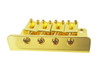 4-string Gold Hard-tail Bridge for Cigar Box Guitars & More