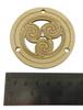 "2pc. Celtic/Irish ""Triskell"" Design Sound Hole Covers for Cigar Box Guitars - 2.5"" Diameter"