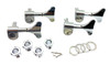 4pc. Chrome Sealed-Gear Bass Guitar Tuners - 4-Right Alignment