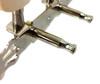 Chrome 3-on-a-plate 3L/3R Tuners/Machine Heads - END HOLE SHAFTS