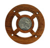 """""""Buffalo Nickel"""" (Front Side) Vintage Coin Sound Hole Cover for Cigar Box Guitars"""