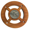 """""""Buffalo Nickel"""" (Back Side) Vintage Coin Sound Hole Cover for Cigar Box Guitars"""