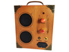 "The ""Delta Driver"" Dual-Speaker, Dual-Input Cigar Box Amplifier - for MP3/Smartphones and/or Guitar!"