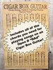 """Open D """"DAD"""" Chord Poster for 3-string Cigar Box Guitars - includes blues scale diagram!"""