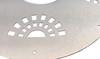 Detail of brushed aluminum finish.