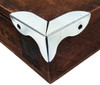 Art Deco-style Chrome Box Corners - 8-pack