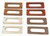 2pc. Enclosed Single-Coil Pickup Cover Rings - Choose from 4 Wood Types!