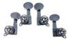 4pc. Chrome Sealed-gear Soprano Ukulele Tuners - 2L/2R