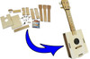 Build-it-Yourself DIY Ukulele Kit - Easy to Build, Fun to Play, Made in the USA- The Gittylele!