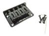 4-string BLACK Hard-tail Bridge for Cigar Box Guitars & More
