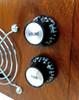 8pc. Black Top-Hat Style Acrylic Volume Knobs