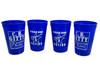 4pc. Blue 16oz. Gitty/Nation Plastic Stadium Cups
