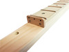 Fully-Fretted 3-string Cigar Box Guitar Neck for 25-Inch Scale