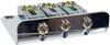 3-string Chrome Hard-tail Roller-style Bridge for Cigar Box Guitars & More - Top & Bottom Loading!