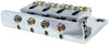 "4-string Chrome Hard-tail ""Roller"" Style Bridge for Cigar Box Guitars & More - Top & Bottom Loading!"