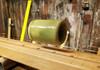 "Sage Green Ceramic Guitar Slide - 1 3/4"" Length - handcrafted by Janis Wilson Hughes"