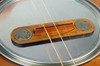 """Hobo Nickel"" Cigar Box Guitar Bridge with vintage U. S. Buffalo Nickels"