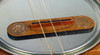 """Thin Ones"" Cigar Box Guitar Bridge with vintage U. S. Wheat Pennies"