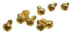 """100pc. #2 x 1/4"""" Gold (Brass-plated) Round-head SLOTTED Screws"""