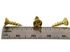 "100pc. #6 x 1/2"" Brass-plated Phillips Flat-Head Screws"
