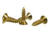 "100pc. #4 x 1/2"" Brass-plated Phillips Flat-Head Screws"