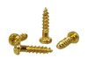 100pc. #2 x 3/8ths-inch Gold (Brass-plated) Round Head Phillips Screws