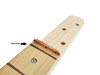 23-Inch Scale Fully-Fretted 3-string Cigar Box Guitar Neck