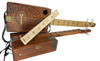 Hobo Fiddle Fretboard - Fully Fretted 17 -inch Scale - Custom-Engraved with Real Hobo Glyphs!