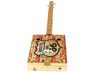 """""""Route 66"""" 3-string Illustrated Cigar Box Guitar - features vintage cigar box artwork"""
