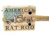 """American Rat Rod"" 3-string Illustrated Cigar Box Guitar"