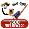 $500 Free Offer Reward - Choose from Several Options!