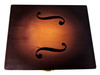 8 x 10-inch Wooden Tobacco Burst Cigar Box with Printed F-holes