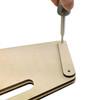 Portable DIY Cigar Box Guitar Stand Kit - easily build a folding CBG stand using just a screwdriver!