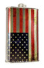 Weathered American Flag F-style Cans with Lid - Choose Size - Great for Canjos, Resonators & More!