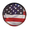 American Flag Illustrated 5-inch Paint Can Lid - Cigar Box Guitar Resonator