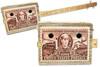 """Casey Jones"" Railroad Stamp 3-string Illustrated Cigar Box Guitar"